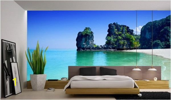 Beautiful Beach Murals for Modern Master Bedroom Interior wall murals Pinterest