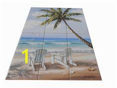 Hidden Beach SK Tile Mural Beach scene tile murals are great as part of