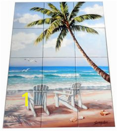Hidden Beach SK Tile Mural Digitally reproduced for tiles and depicts two white