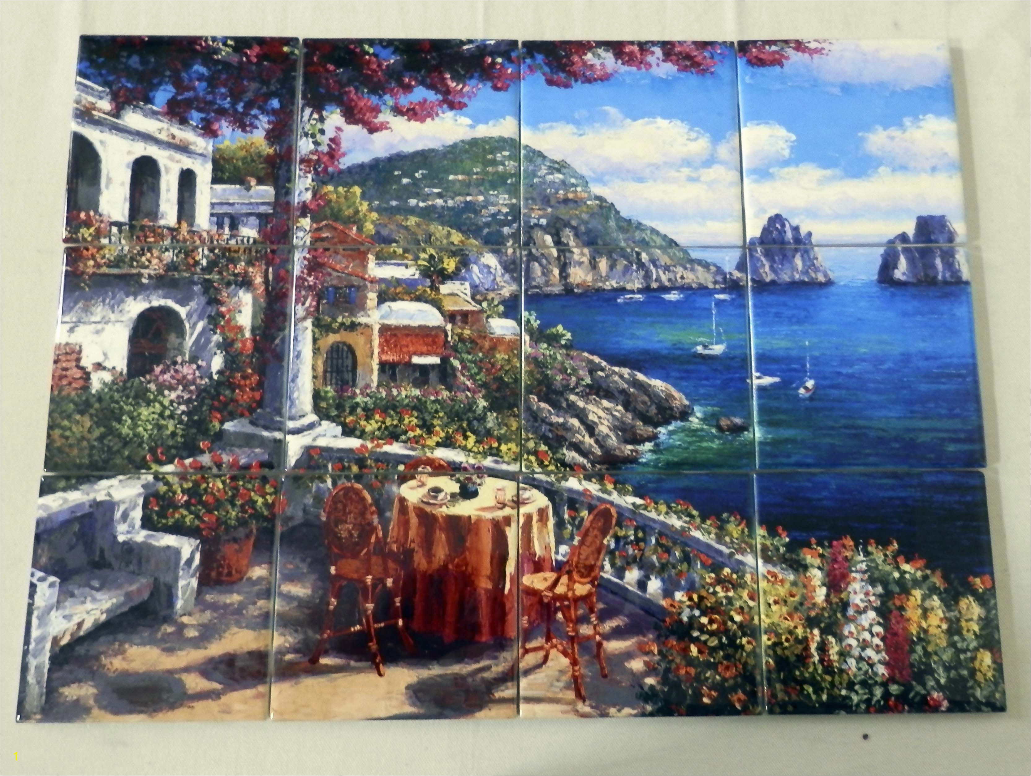 Capri Morning Tile Mural Tile Murals Beach Scenes And