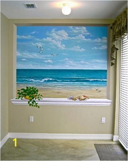 The backsplash ideas kitchen… this ocean scene is wonderful for a small room or windowless room lovely