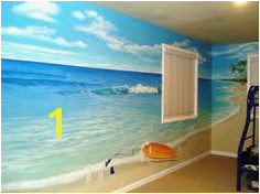 Beach themed room for my little brother Bedroom Murals Bedroom Themes Wall Murals