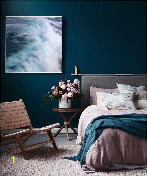 Wave Print Nautical Decor Ocean graphy Blue Wall Art Canvas Poster Scandinavian Print Nor