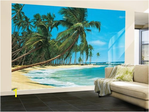 South Sea Blue Beach Landscape Wall Mural Wallpaper Mural 144 x 100in