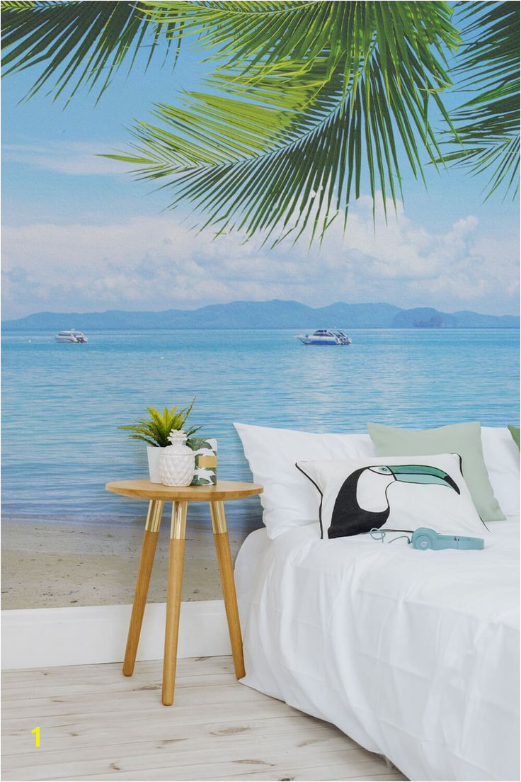 Bedroom Wallpaper Ideas Jealous of this view This beach wallpaper mural takes you right on the beach G