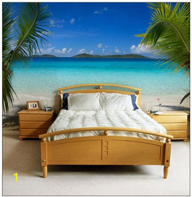 Love this tropical bedroom mural