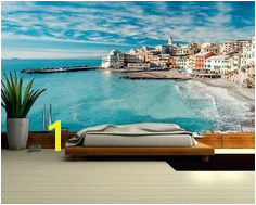 Sea MURAL Wallpaper beach sea wall mural self adhesive Beach Scene Wallpaper Ocean Wallpaper