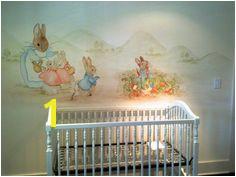 nursery mural after the book peter rabbit Coelho Peter Peter Rabbit Wallpaper Nursery Themes