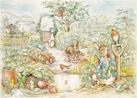 Beatrix Potter Peter Rabbit Scene Wall Mural