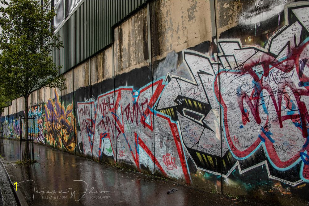 The Belfast Peace Wall graph by Teresa Wilson