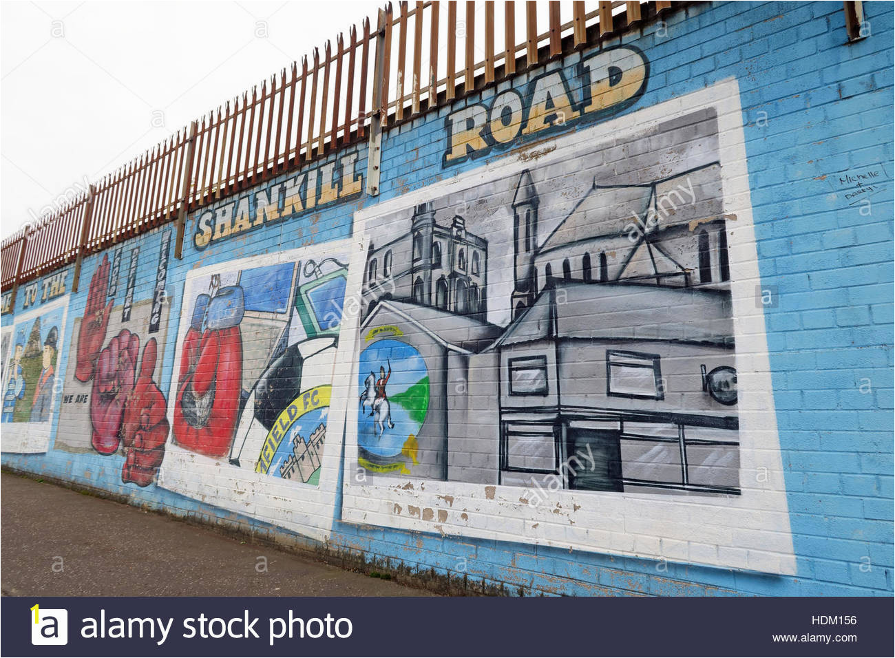 Shankill Road Belfast International Peace Wall Cupar way West Belfast NI