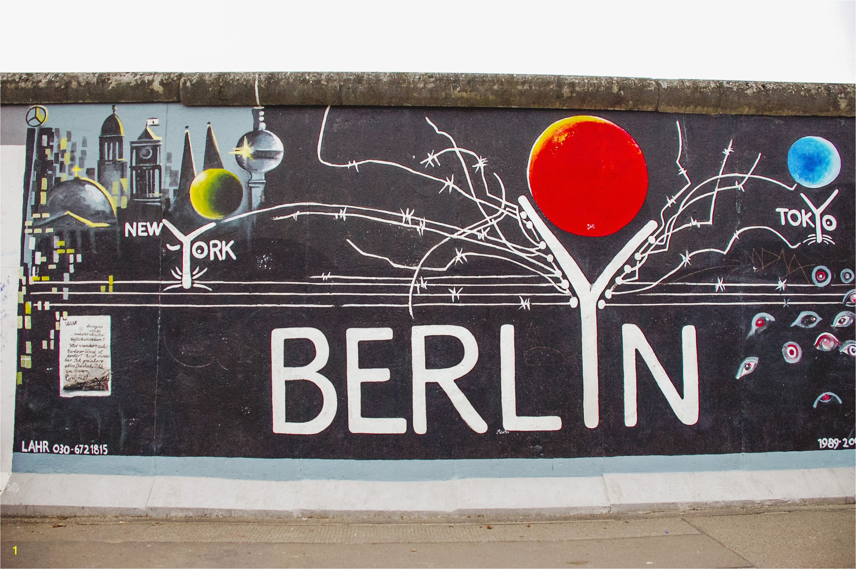 Berlin Wall Mural Kiss East Side Gallery In Berlin