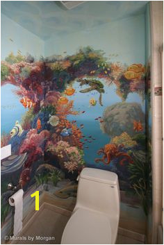 tropical fish bathroom Fish Bathroom Bathroom Mural Mural Painting