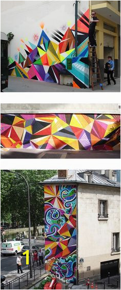 Vibrant street art by Matt W Moore aka MWM via theartcake This is the