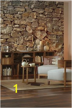 This wall mural rocks Invite the indoors in with this chic stone mural creating a photorealistic trompe l oueil detail that is large enough to cover an