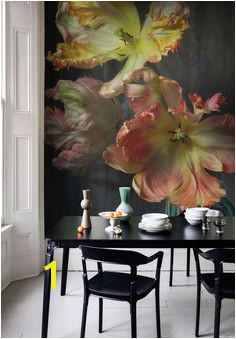 Bursting Flower Still Mural by Emmanuelle Hauguel