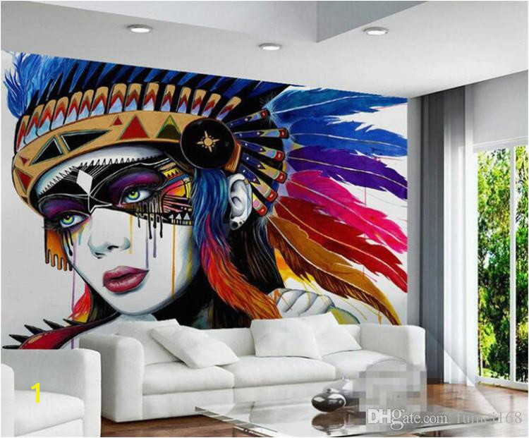 Best Paint for Wall Mural European Indian Style 3d Abstract Oil Painting Wallpaper