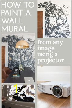 How to paint a mural from any image using a projector Projector Wall fice Mural