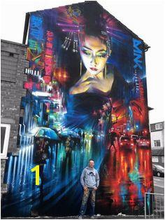 DANK Blackpool UK Wandmalereien Schilder Zeichnen Fassaden Murals Street Art