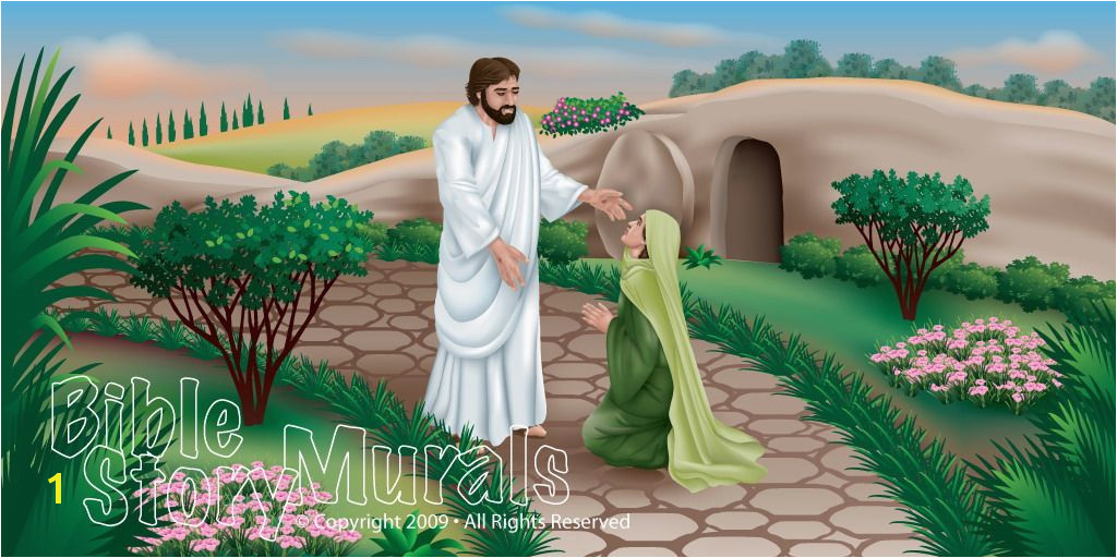 Bible Story Murals Bible Story Murals the Resurrection Youth Room Ideas