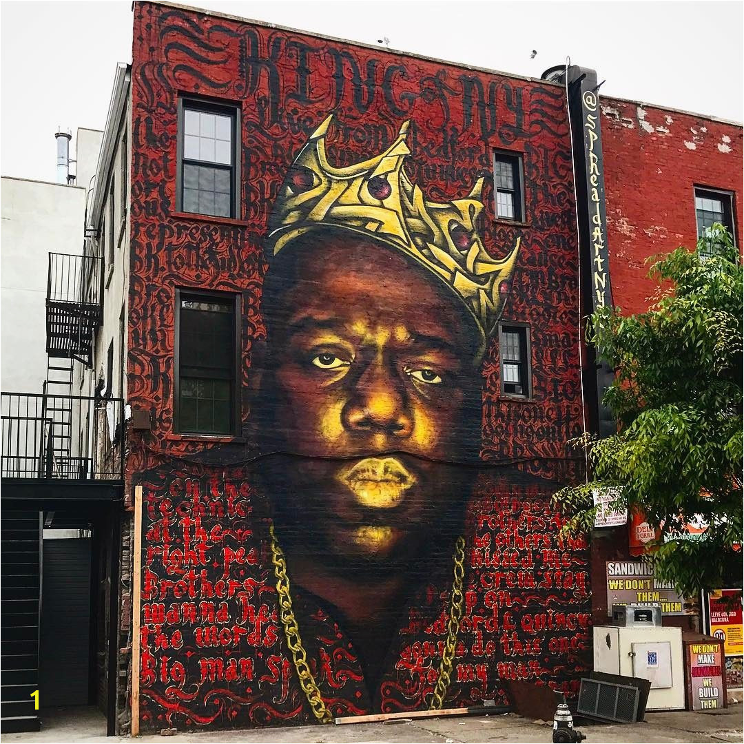 Biggie Smalls Mural in Bed Stuy May e Down