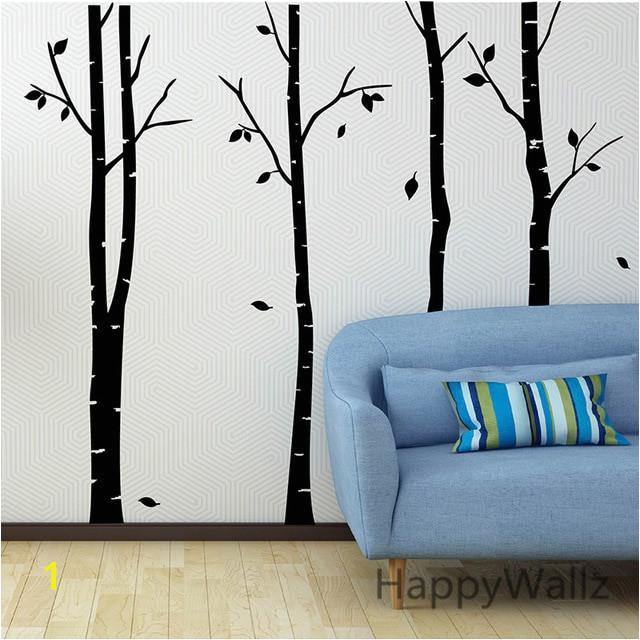 Birch Tree Wall Sticker Family Tree Wall Decals DIY Birch Tree Wallpaper DIY Removable Wall Decoration T14