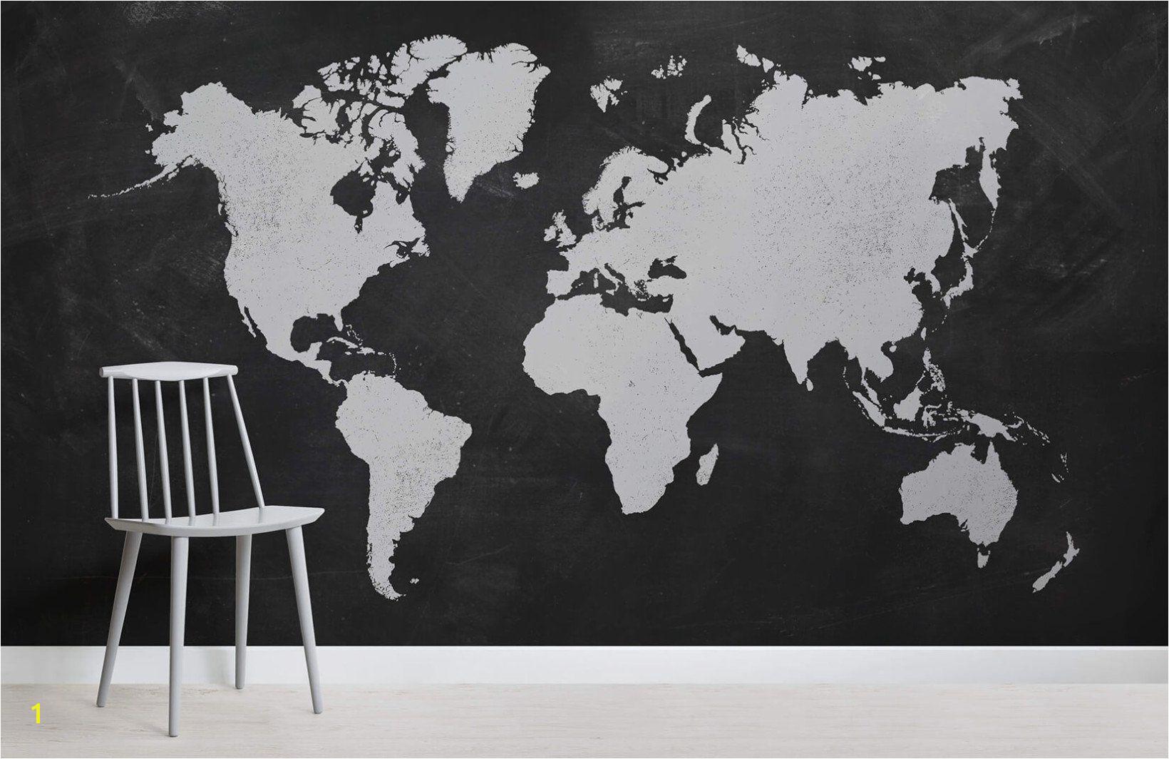 Chalk Board World Map Room World Map Wallpaper fice Walls Chalk Board Game