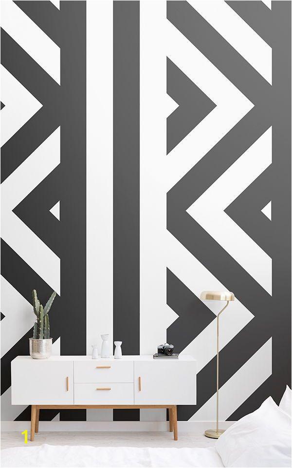 Zig Zag Black and White Wallpaper Mural MuralsWallpaper Feature Wallpaper Ideas Pinterest