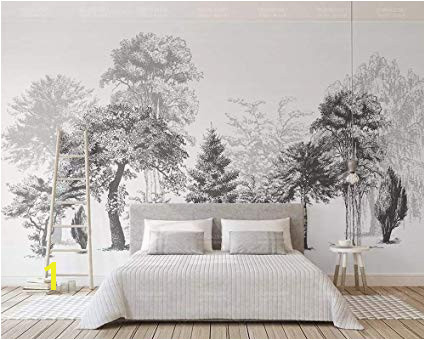 Sumotoa 3D Mural Wall Stickers Decoration Custom Minimalist Black and White Sketch Style Wood Tv Background