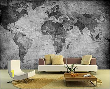 Black and White World Map Wall Mural Bilderdepot24 Self Adhesive Wallpaper Wall Mural World Map