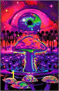 Opticz Ripple Eye in The Sky Blacklight Poster BL6040 Google Express Trippy Mushrooms Acid