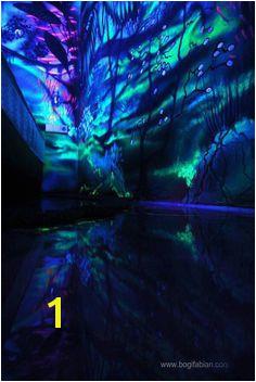 European Artist Bogi Fabian paints room w glow in the dark paints and blacklight Möbel Furniture