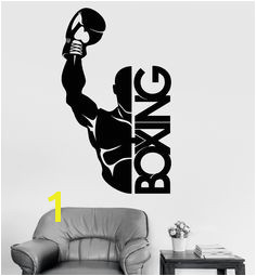 Vinyl Wall Decal Boxing Boxer Fight Sports Decor Stickers Mural ig3466 Wall Stickers Sports