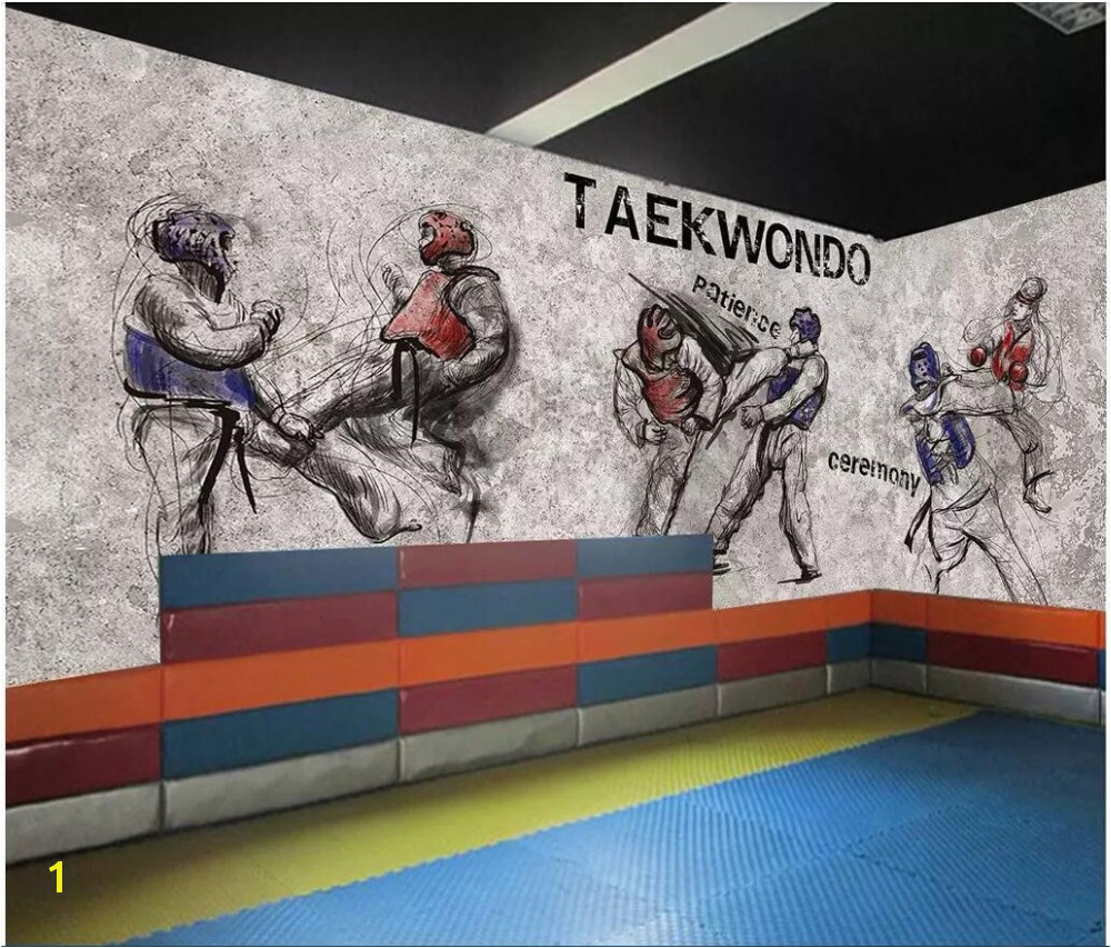 custom photo 3d wallpaper Taekwondo gym boxing background martial arts hall living room home improvement wallpaper