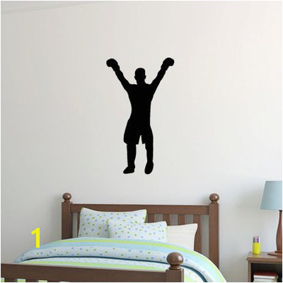 Zoomie Kids Wilbert Boxer Boxing Silhouette Wall Decal