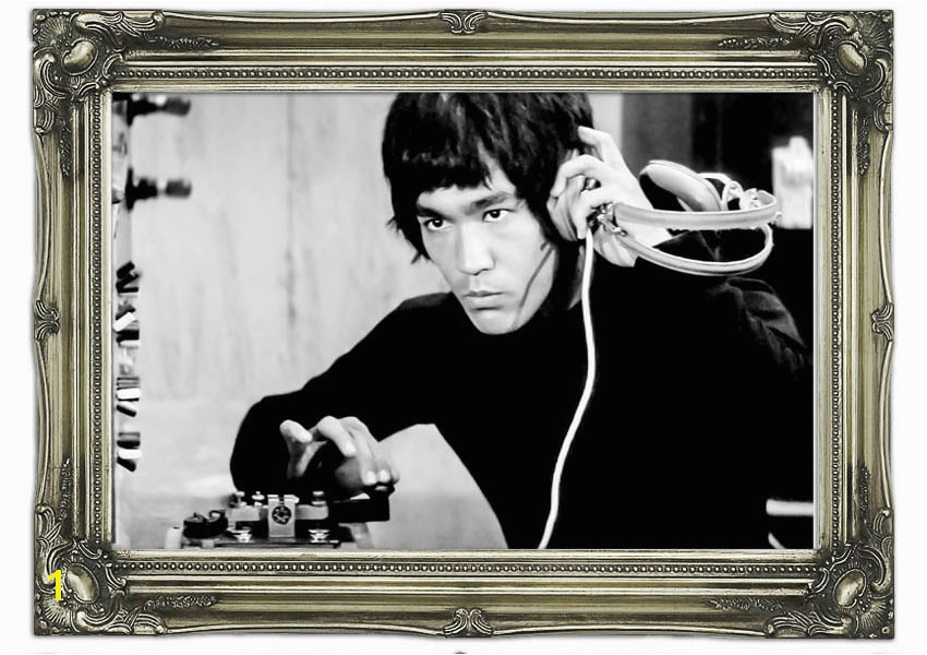 Printed Wall Mural Bruce Lee DJ Club Vinyl A