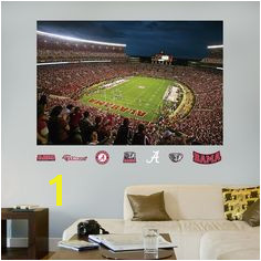 Alabama Bryant Denny Stadium Mural Alabama Crimson Tide Roll Tide Mural Wall