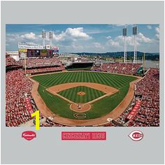 Cincinnati Reds Great American Ball Park Stadium Mural Fathead Cincinnati Reds Baseball Red Rooms