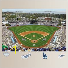 Los Angeles Dodgers Stadium Mural Fathead Los Angeles Dodgers Stadium Dodger Stadium Baseball Party