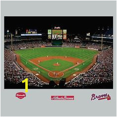 Atlanta Braves Turner Field Stadium Mural Fathead pbteen Atlanta Braves Stadium Turner Field