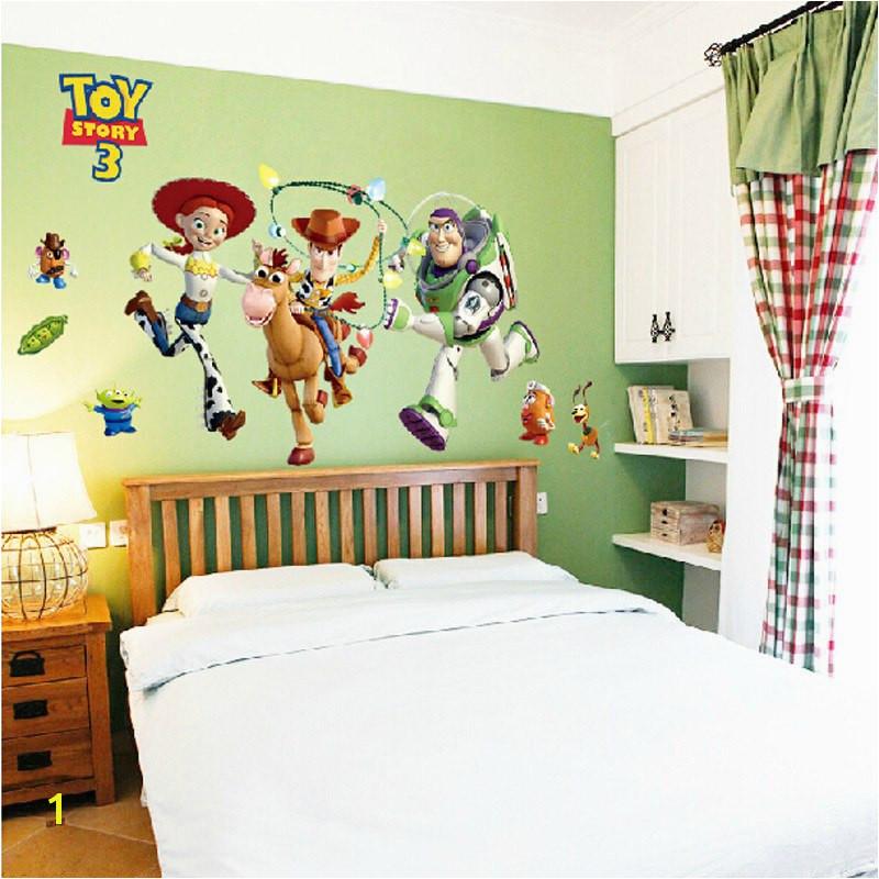 Wand Malerei Buzz Lightyear Toy Story Tapete Vinyl Wand Aufkleber Für Kinder Zimmer Dekor 60 90 cm Große Größe wand Aufkleber Lot in Wand Malerei Buzz