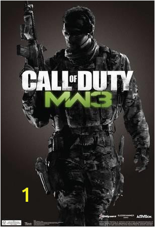 call of duty modern warfare 3 video game poster u L F7P1CA0