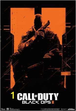 call of duty black ops 2 orange video game poster u L F7P1EM0