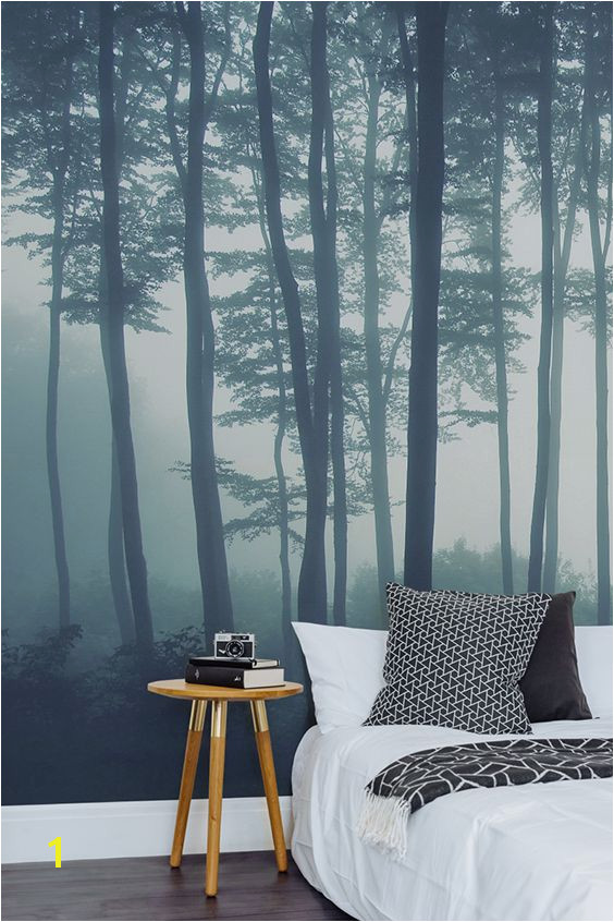 Calming Murals Sea Of Trees forest Mural Wallpaper Muralswallpaper