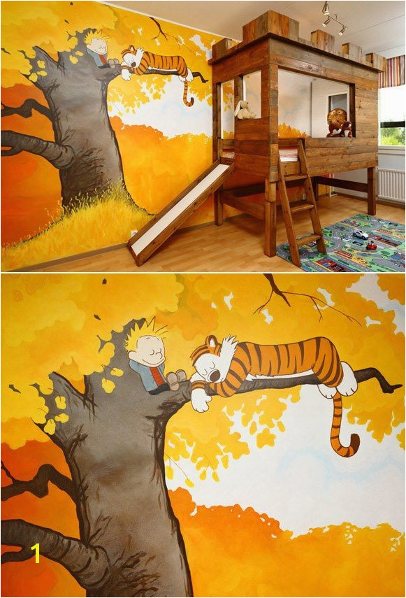 Calvin & Hobbes treehouse bedroom Who wouldn t want that
