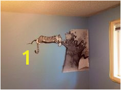 Not an original idea but here s our Calvin and Hobbes mural for our baby s room