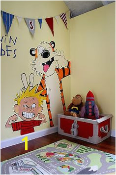 Calvin and Hobbes mural I wish I d done this in my son s room