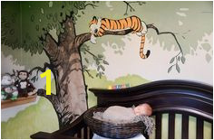 Baby Calvin with Hobbess Mural I painted in a nursery See more of my work Faceook wallartbytony