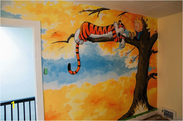 HD wallpapers calvin and hobbes wall mural