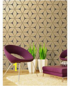 Apex Geometric Wallpaper Rose Gold Fine Decor FD